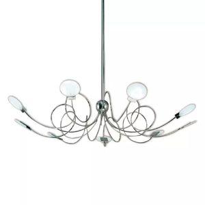 Araña de diseño moderna con 9 luces led
