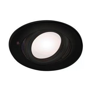 Spot de embutir Negro movil Ø 11cm completo lampara led 7w máxima potencia